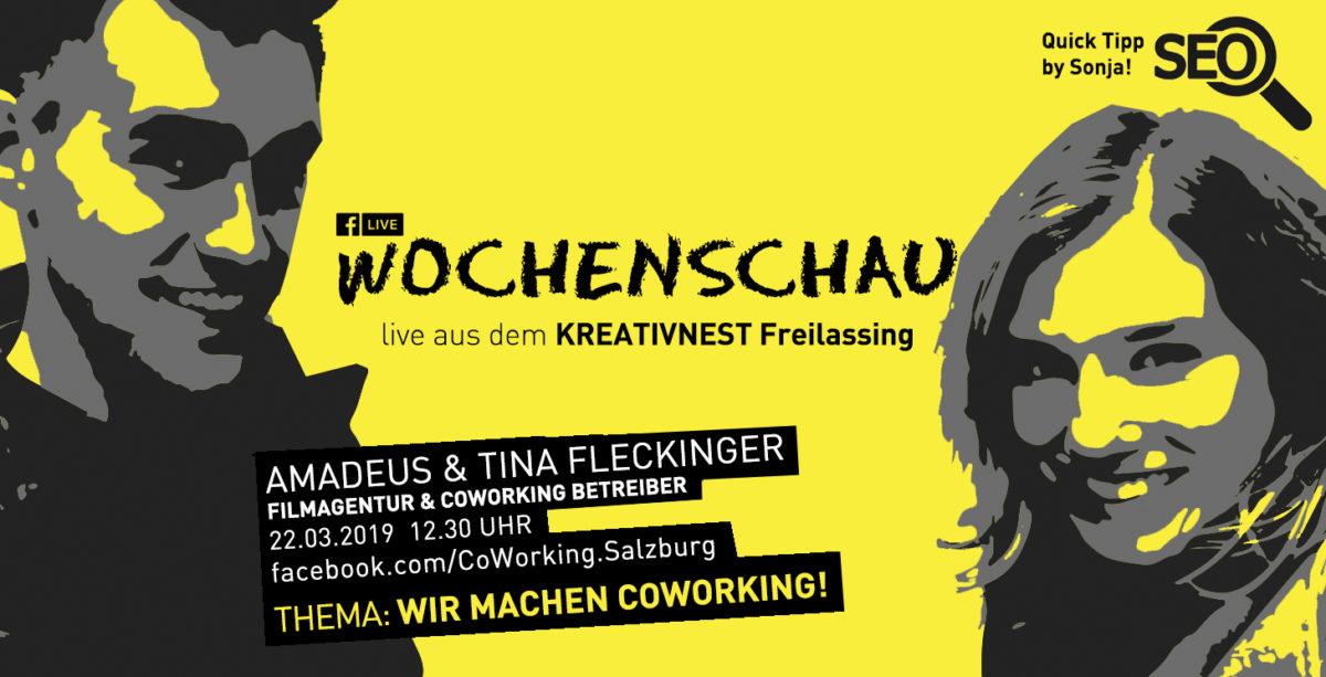"""Die Betreiber des Kreativnest Freilassing, Amadeus und Tina Fleckinger, haben das Konzept """"Coworking"""" im Coworkingspace Salzburg ausführlich getestet und danach beschlossen, es in Freilassing zu versuchen. Sie berichten von Startschwierigkeiten, von der Lust auf das Durchhalten und ihrem Plan B, falls es nicht geklappt hätte."""